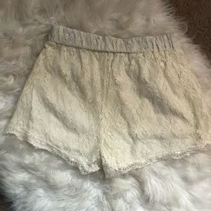 freebird Shorts - Freebird Cream Lace Shorts